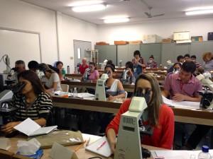 Trabajando en clase Esalq 2014